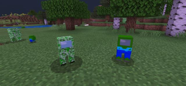 Little creeper and zombie