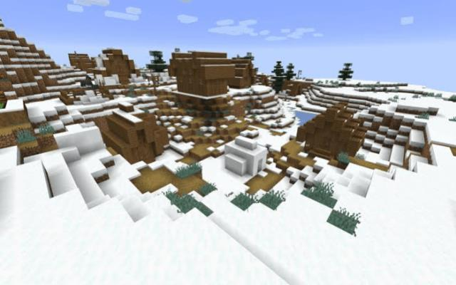 Unusual structures in the snow biome