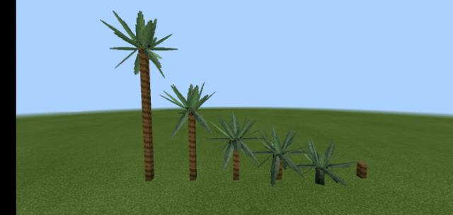 Palm tree from two kinds of blocks