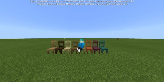 Player on chairs