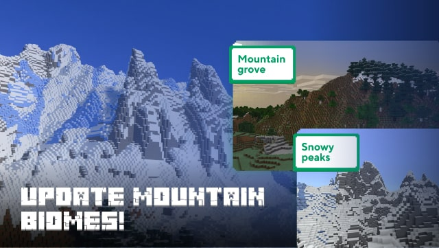 Added several variations of the mountain biome