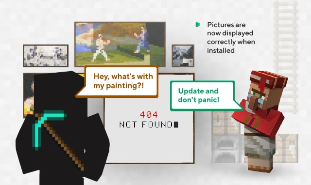 Now the paintings on the wall are displayed correctly and do not disappear